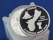 2009-s Guam Territories Silver Quarter Proof Roll Of 40 Coins