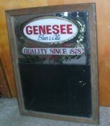 Vintage Genesee Beer And Ale Mirror/sign And Chalkboard By Signs And Glassworks, Inc.