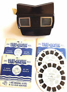 Vintage Sawyer's Viewmaster Model E Viewer And 3 Disney Reels Plus Lassie And Timmy