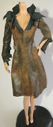 Top Barbie The Twilight Saga Victoria Faux Distress Trench Coat Fit Model Muse