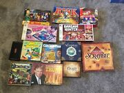 Vintage Board Games Lot Scrabble-risk-mousetrap-clue- And More