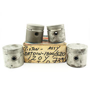Piston Assy Std 73mm 4 Cylinders Genuine Nos Fits For Datsun 1300 520 120y