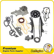 Timing Chain Kit W/ Heavy Duty Metal Guides Water Pump Fit 85-95 Toyota 22r 22re