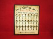 Original 1920and039s Model T Ford Dealership Key Display Board - All Keys Are N.o.s.