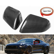 Real Carbon Fiber Side Mirror Covers Cap For Ford Mustang Gt W/ Turn Signal