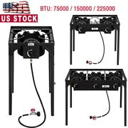 Portable Outdoor Camp Stove 1/2/3 Burner Cast Iron Patio Cooking Stove Grill Bbq
