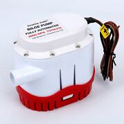 2000gph 12v Auto Submersible Boat Bilge Water Pump With Built-in Float Switch