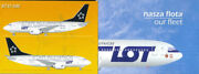 Airline Issue Postcard Lot Polish Airlines Set Of 9