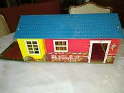 Vintage Wolverine Toy 1950's Tin Ranch Doll House - No. 800 Very Good Condition