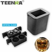 Teenra Crystal Clear Ice Cube Ball Maker Silicone Mold Tray Bubble-free 3 Shapes