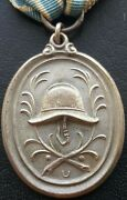✚9360✚ German Post Ww1 Bavarian Fire Service Decoration For 25 Years Medal