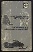 Bombardier Ski-doo Snowmobile Technical Specification Booklet 1980 To 1985