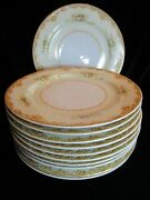 Jyoto China Occupied Japan Multicolored Flowers Gold Trim 11 Dinner Plates 10