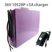 With 5a Charger 98ah 10s28p 36v Battery E-bike Electric Li-ion Customizable
