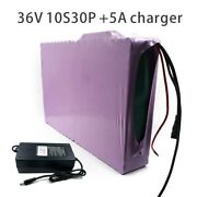 With 5a Charger 105ah 10s30p 36v Battery E-bike Electric Li-ion Customizable