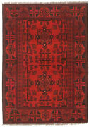 Vintage Hand-knotted Carpet 3and0394 X 4and0399 Traditional Oriental Wool Area Rug