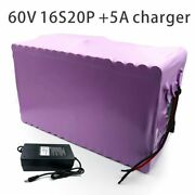 With 5a Charger 70ah 60v Battery Electric Bicycle Li-ion Tricycle Customizable
