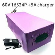 With 5a Charger 84ah 60v Battery Electric Bicycle Li-ion Tricycle Customizable
