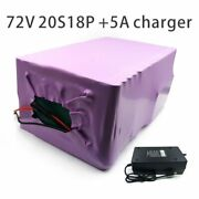 With 5a Charger 63ah 72v Battery Electric Bicycle Li-ion Tricycle Customizable