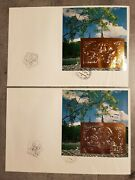 Mongolia Nat.stamp.exhibition Topex'93 Wisconsin U.s.a 2 Fdc Blocks Gold+silv.