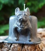 Lovely Antique Unusual Small French Bulldog Dog Pin Cushion