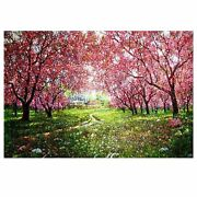 500 Piece Wooden Jigsaw Puzzles Spring Landscape Oil Painting Jigsaw Puzzles ...