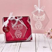 Fashioncraft Glass Octagon Angel Ornaments Great For Christmas Tree Holidays