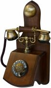 Wooden Wall Phone Rotary Country Kitchen Retro Telehone Collectors Birthday Gift