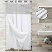 No Hooks Required Waffle Weave Shower Curtain With Snap In Liner - 71w X 74h,hot