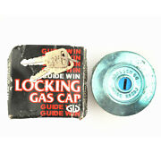Guide Win Locking Gas Cap 37mm Blue Nos Fits Datsun Toyota Buick Jeep Dodge Vw