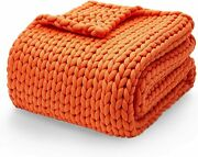 Ynm Knitted Weighted Blanket Hand Made Chunky Knit Weighted Throw Blanket For S