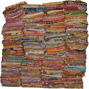 Vintage Handmade Kantha Quilts Tribal Kantha Cotton Bed Cover Throw Assorted Pat