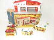 Diecast Lesney/matchbox Fire Station Gift Set G-5 W/cars-sign And Pumps- Bxd - S14