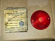 1937-plus Ford Truck Do Ray Tiger Eye Hex Flex Plastic Tail Light Lens 1272 Nors