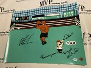 Psa/dna Mike Tyson And Charles Martinet Auto 16x20 Mike Tyson's Punch Out Photo