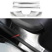 For Tesla Model Y 2020-2021 Silver Inner Door Sill Plate Scuff Cover Guard 4pcs