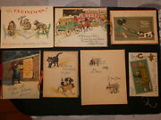 Lot 16 Images Pieuses Anciennes Joyeux Noel Happy Christmas Holy Cards Debut Xxe