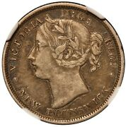 1864 Canada New Brunswick 20 Cents Silver Coin - Ngc Xf 40 - Km 9
