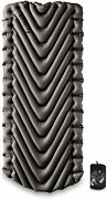 Klymit Static V Luxe Sleeping Pad, Extra Wide 30 Inches, Best Camping Gear For