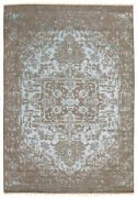 6and0396 X 9and0395 Hand-knotted Modern Oriental Carpet Wool/silk Area Rug
