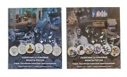 2 New Gift Coin Set Albums Of 25 Rubles Russian Coins Russian Soviet Animation