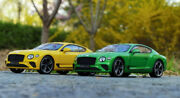 1/18 Norev Bentley Continental Gt 2019 Diecast Model Car Gifts Gold/green/yellow