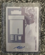 Abraham Toro 2020 Contenders Autographed Printing Plate 1/1