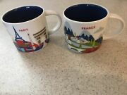 Starbucks France + Paris You Are Here Yah Collector Series Mugs 2017 Pristine