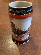 Budweiser Holiday Stein/mug 1991 The Seasonand039s Best.and 1992 A Perfect Christmas.