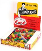 Vintage Original Novelty Jumping Beans Toy Novelty Dime Store Display 1950s Nos