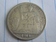 20 Cent Indo-china Silver Coin 1914 See Photos B199
