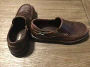 Eastland 3086 Womenandrsquos Size 9m Brown Slip On Leather Loafers Clogs Nursing