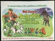 Darby Oand039gill Little People Original Quad Movie Poster Sean Connery Walt Disney