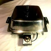 Vintage Toastmaster Stainless Steel Electric Skillet Fry Pan Fully Submersable